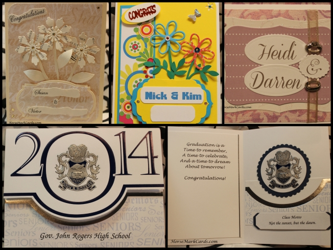 wedding cards. cards created from invitations