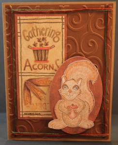card with squirrel & acorn